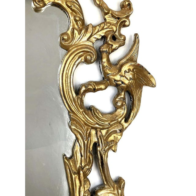 Gampel-Stoll Hollywood Regency Chinoiserie Mirror in Carved Giltwood For Sale - Image 4 of 7