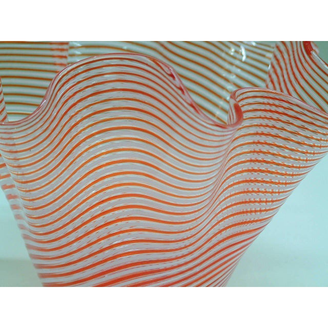1950s Fratelli Toso Fazzoletto Murano Vase For Sale - Image 5 of 8