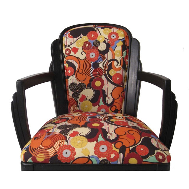 Art Deco Arm Chairs - A Pair - Image 3 of 6