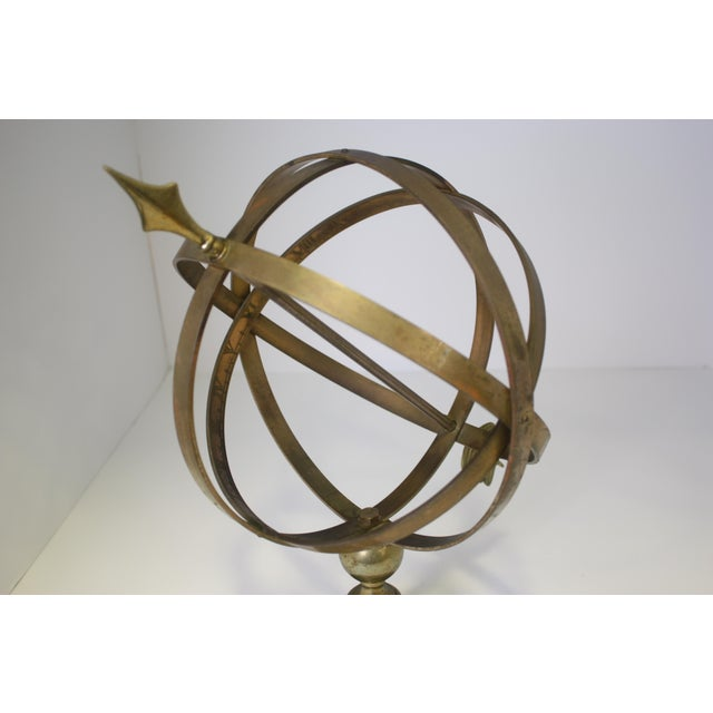 1960s Industrial Solid Brass Armillary Sphere For Sale - Image 4 of 7