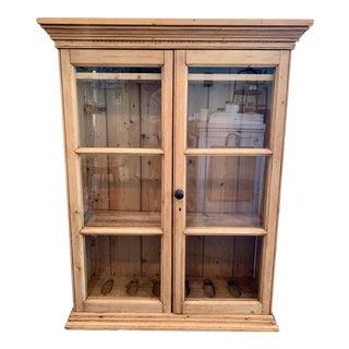 1940s Antique Pine Gun Cabinet For Sale