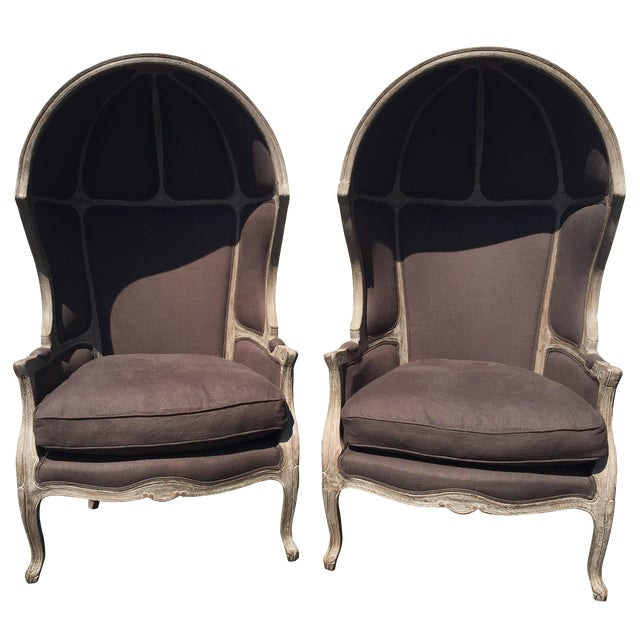 Restoration Hardware Versailles Dome Chairs - Pair For Sale
