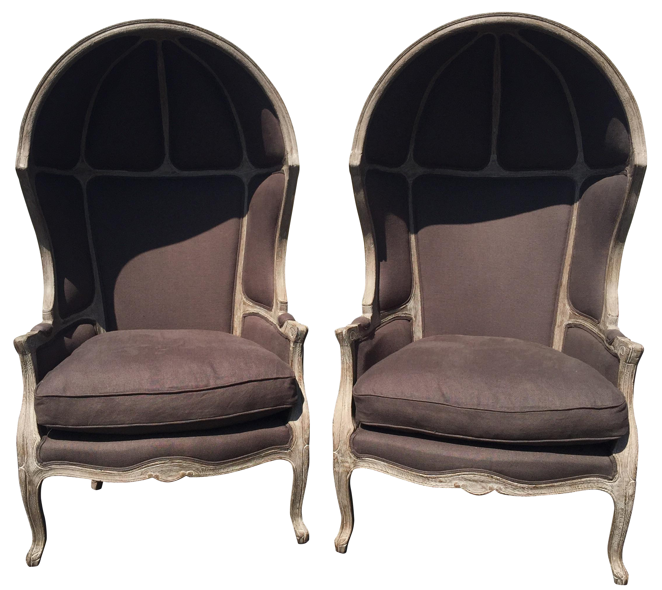 Restoration Hardware Versailles Dome Chairs   Pair