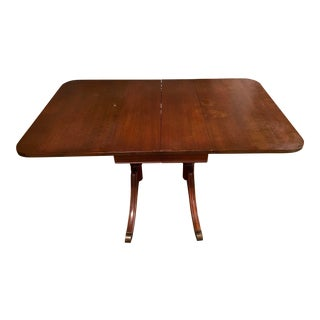 Vintage Mahogany Duncan Phyfe Style Drop Leaf Dining Table For Sale