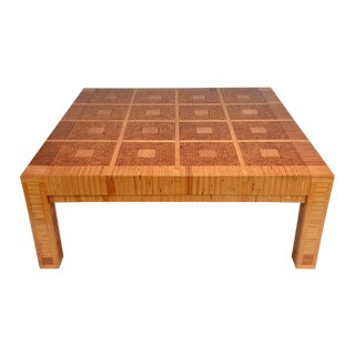 Vintage Modern-Style Geometric Coffee Table For Sale