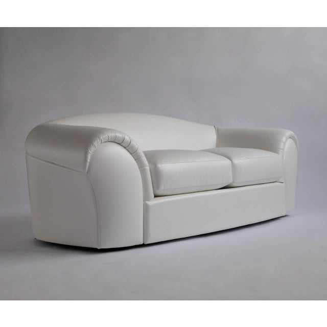 Modern Robert Venturi White Leather Sofa for Knoll For Sale - Image 3 of 3