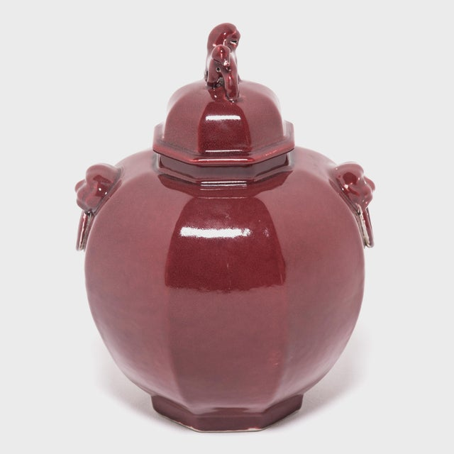 Early 21st Century Pair of Shizi Hong Ginger Jars For Sale - Image 5 of 8