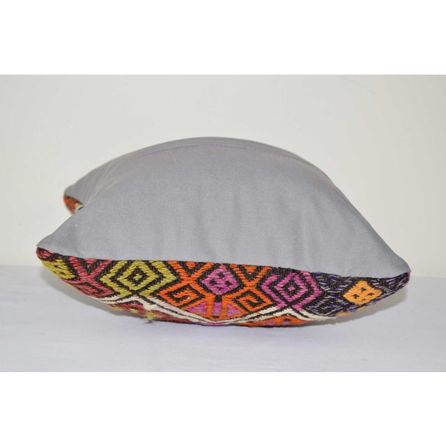 "Turkish Cicim Kilim Cushion Cover 14"" X 14"" For Sale - Image 4 of 6"