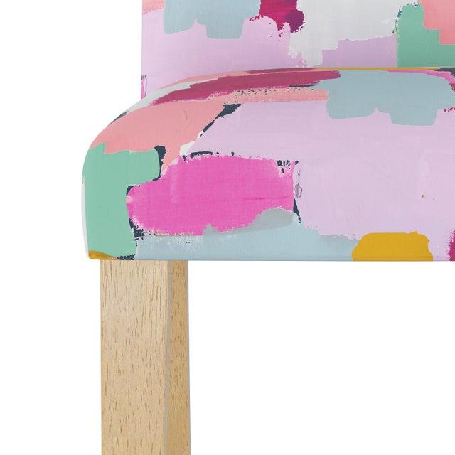 Spritely Home Camel Back Dining Chair in Joyful Navy Oga For Sale - Image 4 of 7