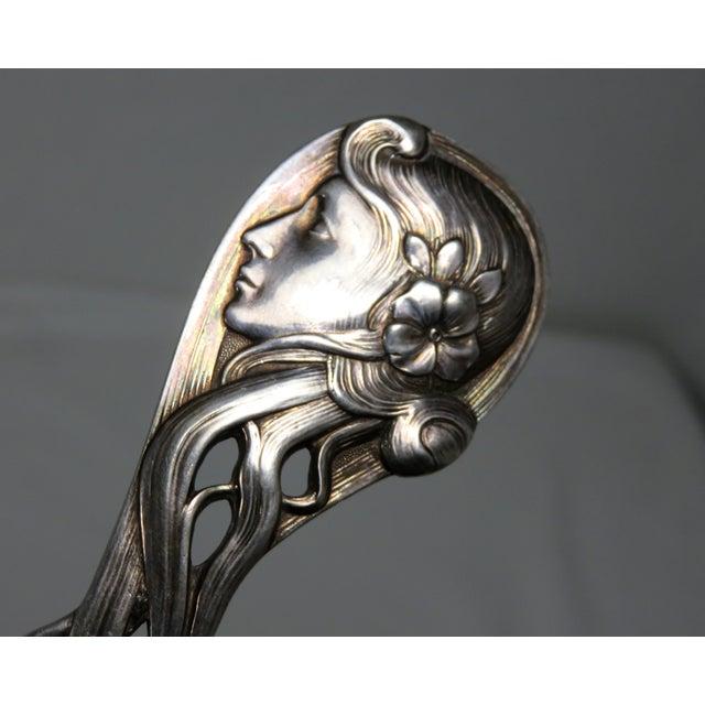 Metal Antique Wmf Austrian Art Nouveau Punch Ladle For Sale - Image 7 of 11