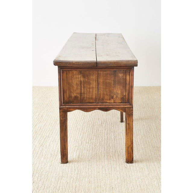 19th Century English Country Georgian Oak Sideboard Dresser For Sale - Image 10 of 13