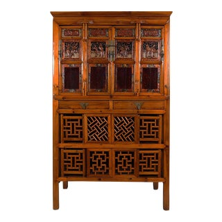 Chinese Antique Kitchen/Entertainment Cabinet