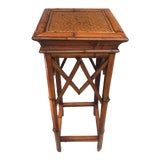 Image of Bamboo Wicker Plant Stand For Sale