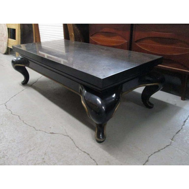 1960s Asian Slate Top Coffee Table Mid Century Modern For Sale - Image 5 of 8