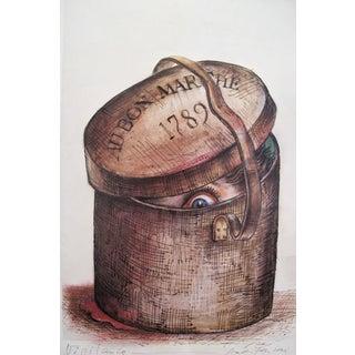 1989 Original Poster for Artis 89's Images Internationales Pour Les Droits De l'Homme Et Du Citoyen - Au Bon Marché For Sale
