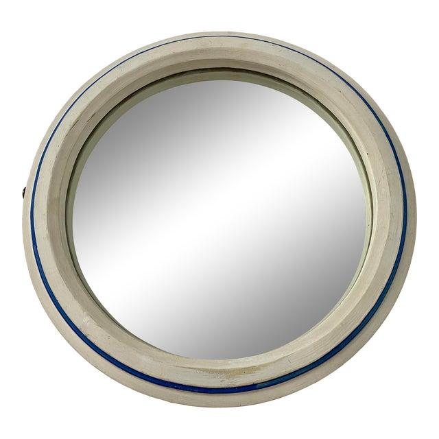 Vintage 1960s Nautical Porthole Mirror For Sale
