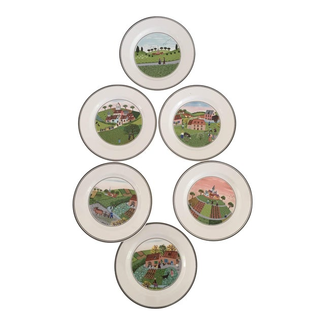 Villeroy & Boch Luxembourg Decorative Bread/Dessert Plates - Set of 6 For Sale