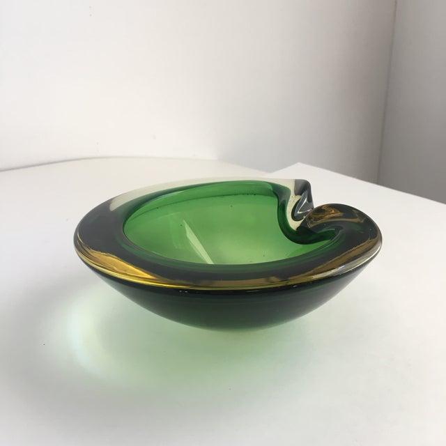 Flavio Poli Contemporary Flavio Poli Green Murano Glass Dish For Sale - Image 4 of 8