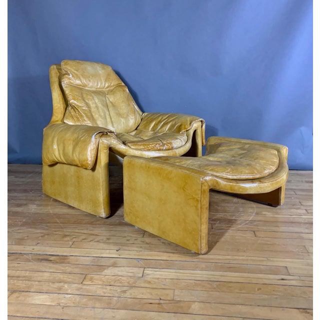 1960s Vittorio Introini for Saporiti Lounge & Ottoman For Sale - Image 13 of 13