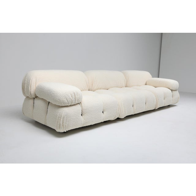 Italian Camaleonda Bouclé Wool Sectional Sofa by Mario Bellini For Sale - Image 3 of 8