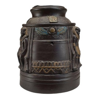 1920s Japanese Egyptian Revival Tobacco Jar For Sale