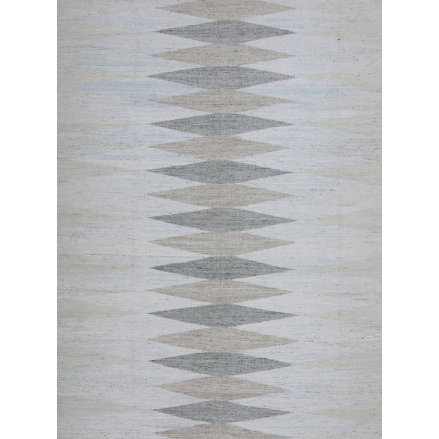 2010s Schumacher Patterson Flynn Martin Avesta Hand Woven Geometric Rug For Sale - Image 5 of 5