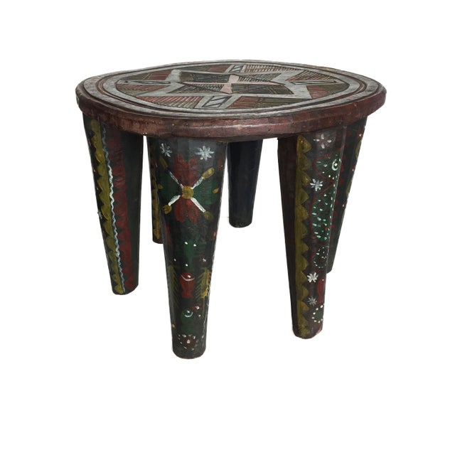 """African Lg Nupe Stool Nigeria 16.75"""" H by 20.5"""" W For Sale In New York - Image 6 of 13"""
