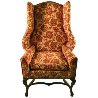 Stylish Wing Chair by Louis Mittman For Sale