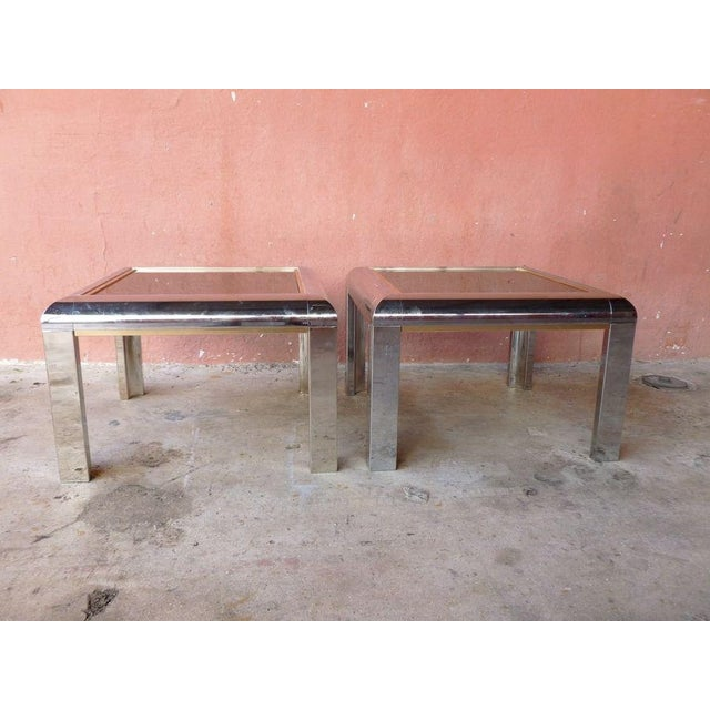 1970's Space Age Mod Chromed Aluminum End Tables - a Pair For Sale - Image 9 of 9
