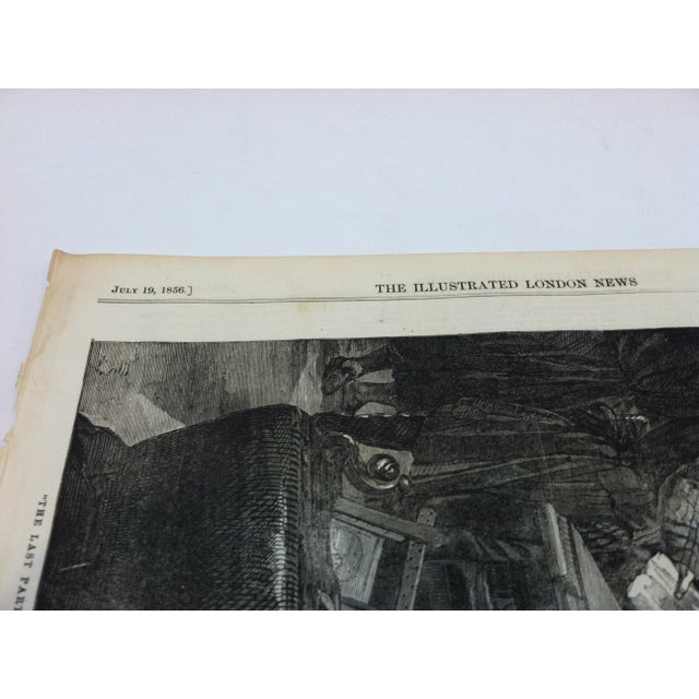 """Mid 19th Century Antique """"The Last Parting of Marie Antoinette and Her Son"""" The Illustrated London News Print For Sale - Image 4 of 5"""