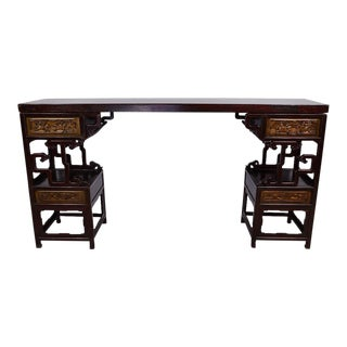 Chinese Antique Carved Altar Table For Sale