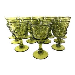 Vintage Mid 20th Century Fostoria Argus Water Goblets - Dozen For Sale