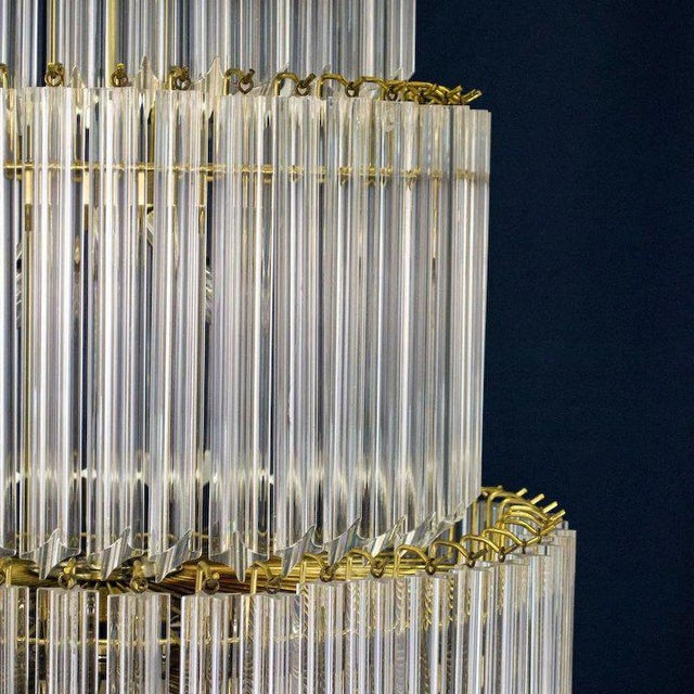 1960's Lucite Acrylic Cascading Chandelier from the University of Northern Colorado's Grand Ballroom For Sale In Denver - Image 6 of 7