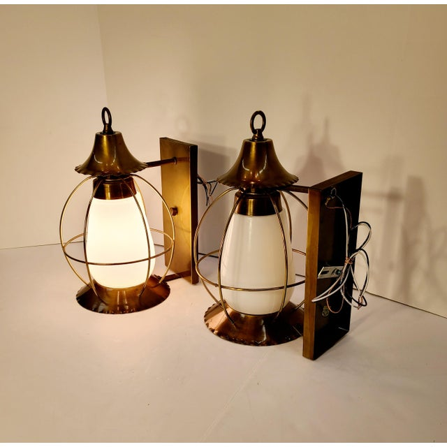 Vintage Nautical Earl Lites Wall Sconces - a Pair For Sale - Image 11 of 13