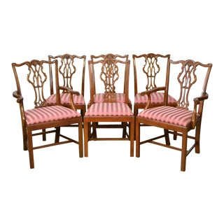 Chippendale Style Custom Quality Dining Chairs - Set of 6