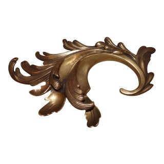 Arteriors Brass Acanthus Huck Accessory For Sale
