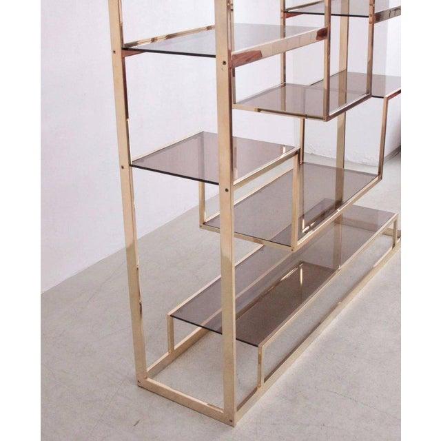 Romeo Rega Large Romeo Rega Brass Shelf or Etagere For Sale - Image 4 of 7