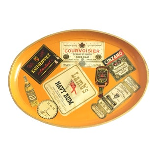 Vintage Booze Label Tray For Sale