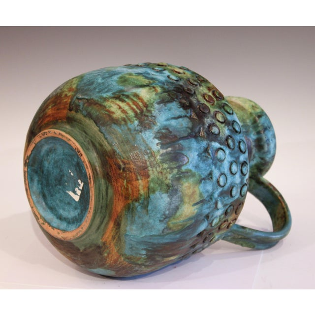 Vintage Bagni Sea Garden Italian Pottery Large Alvino Raymor Jug Pitcher Vase For Sale In New York - Image 6 of 10