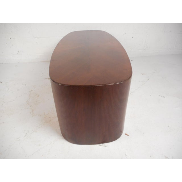 1970s Mid-Century Modern Oval Coffee Table For Sale - Image 5 of 12