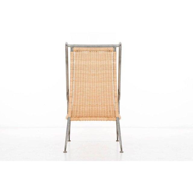 1960s Arturo Pani Prototype Magnesium/ Aluminum Chair For Sale - Image 5 of 7