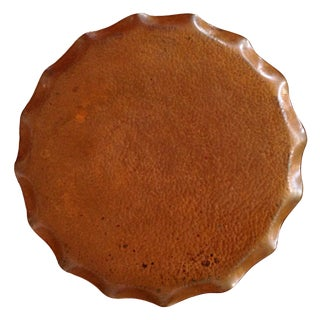 Tasmanian Hand Wrought Copper Tray For Sale