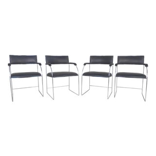 Set of Four Mid-Century Modern Arm Chairs For Sale