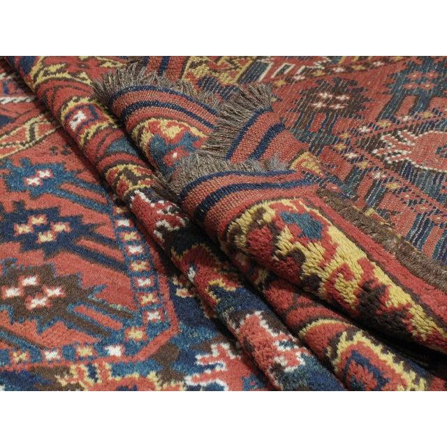 Blue Antique Beshir Turkmen Rug For Sale - Image 8 of 8