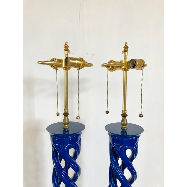James Mont Double Helix Lamps for Frederick Cooper, a Pair For Sale - Image 6 of 11