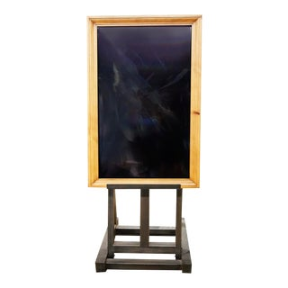 Late 20th Century Modern Advertisement Board on Easel For Sale