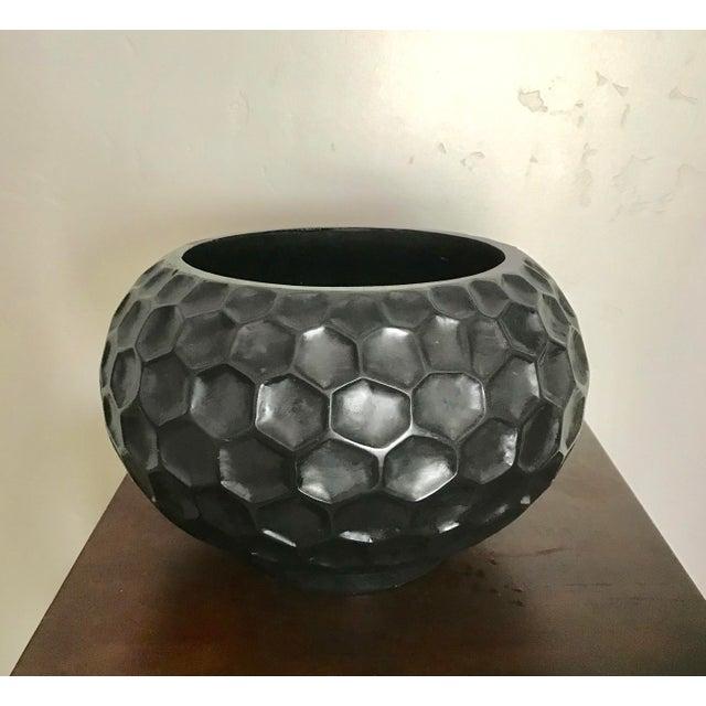 Modern Black Ceramic Honeycomb Vase Chairish