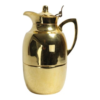 Vintage Alfi Carafe in Gold Finish For Sale