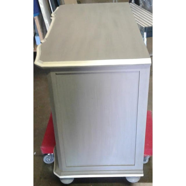 New Serena & Lily Antique Gray Dresser With Serpentine Front For Sale - Image 4 of 5