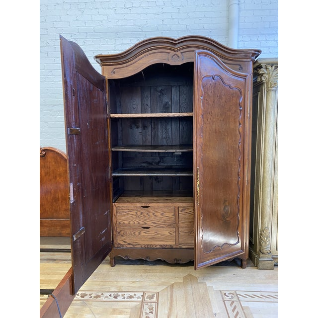 Chestnut Early 20th Century French Storage Armoire For Sale - Image 8 of 13
